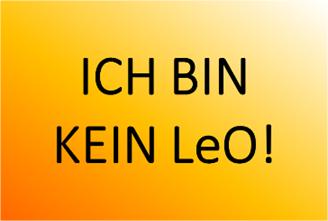 Sei kein LeO!