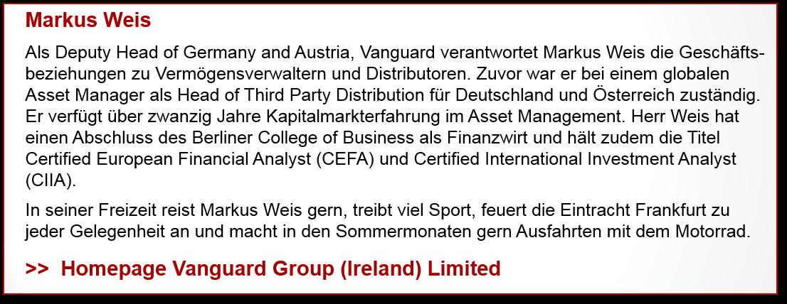 Markus Weis, Vanguard