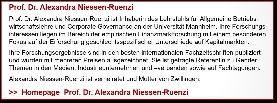Profil Prof. Dr. Alexandra Niessen-Ruenzi