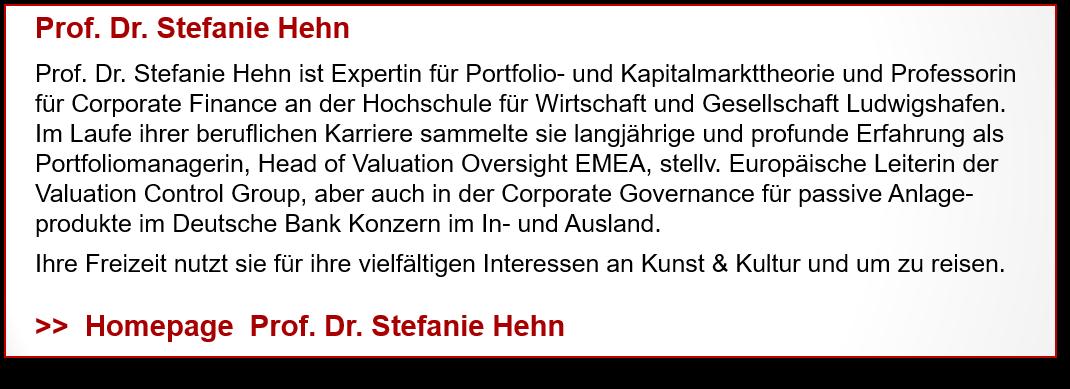 Prof. Dr. Stefanie Hehn - Profil mit Weblink
