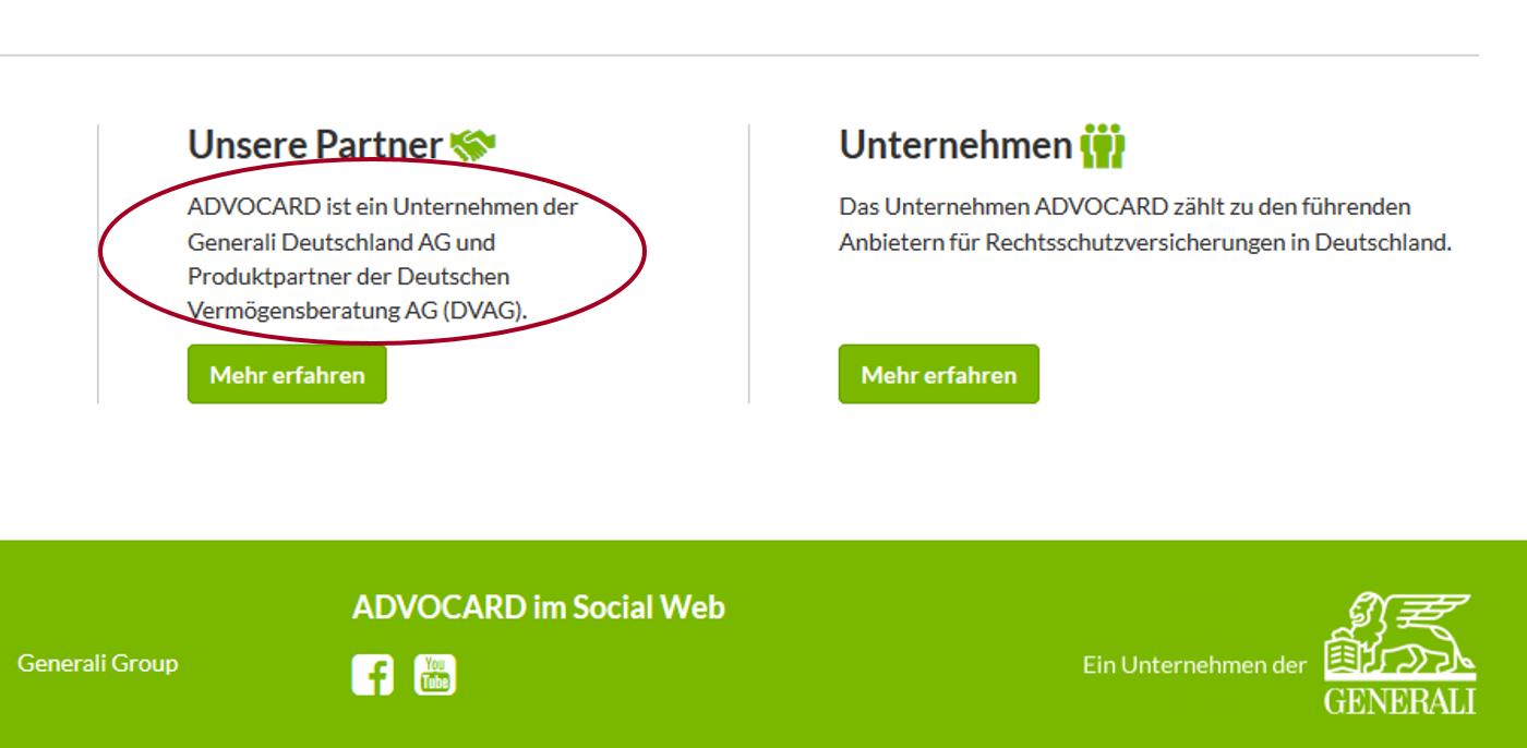ADVOCARD ist Produktpartner der DVAG