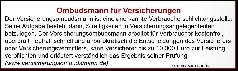 Ombudsmann für Versicherungen