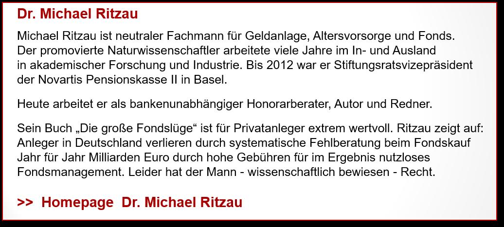 Profil und Homepage Dr. M. Ritzau