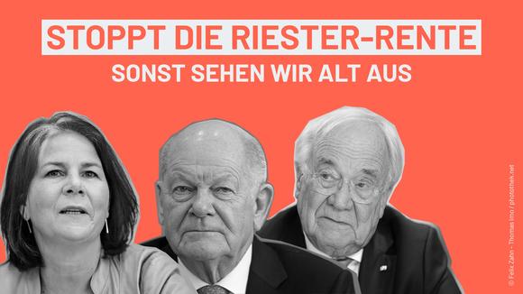 Petition Stoppt die Riester-Rente!